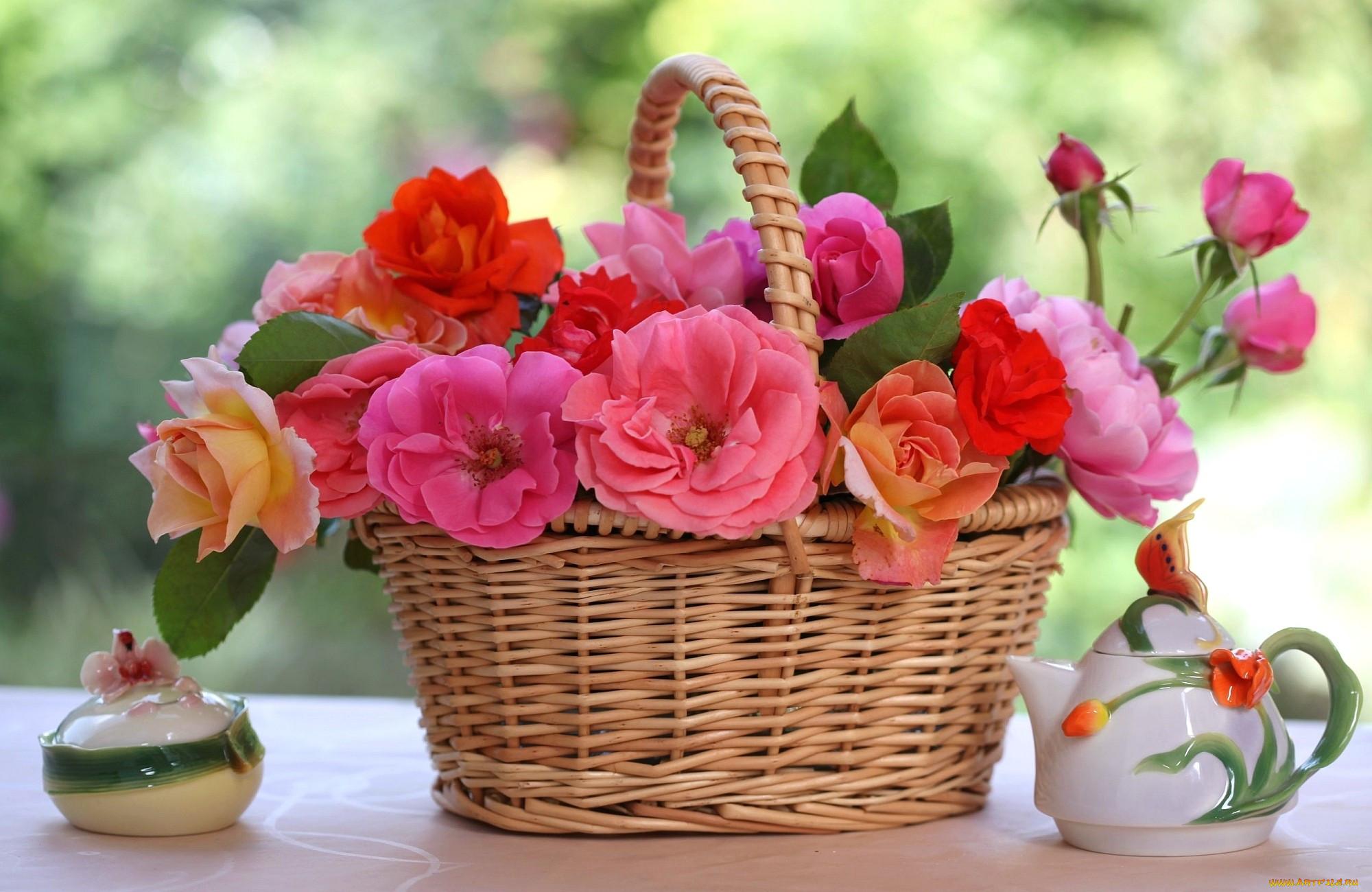 гифы цветы фото макро в корзинках христианские, выполнены камней